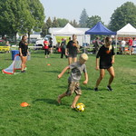 kids playing soccer with WSOC (Sept 3, 2017)