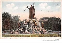 Moses statue  washington park  early 1900s albany ny