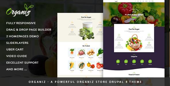 Organiz v1.0 – A Powerful Organiz Store Drupal 8 Theme