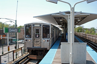 Chicago CTA - Green Line - Central/Lake Station - CTA 2200 series 2350 charter