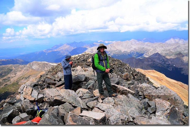 The summit of Mount Yale 2