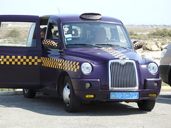 These purple London-style taxis are everywhere