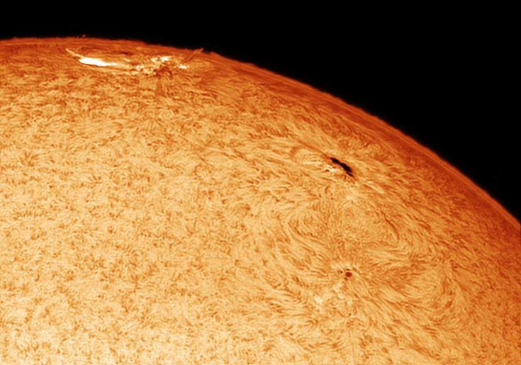 AR2673 in Hydrogen Alpha