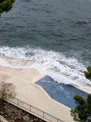 Cliffside pool at the Grand Villa Argentina. Dubrovnik Croatia.