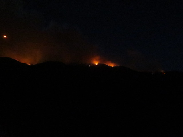 Wildfire along MT 200