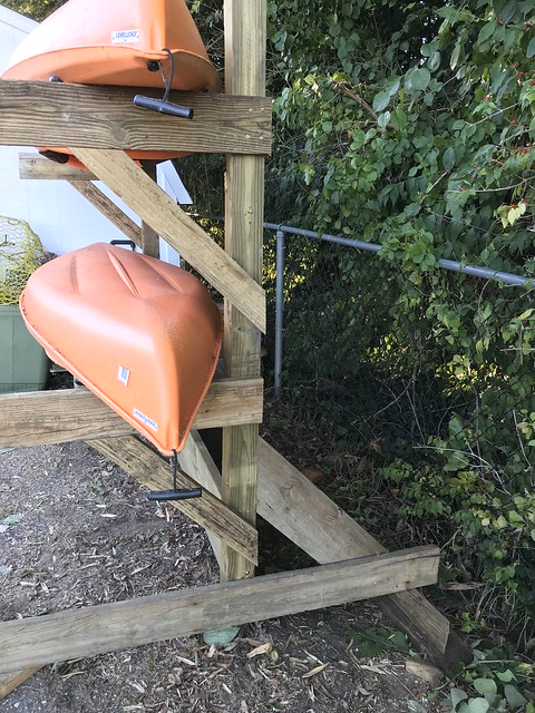 Building A Spouse Unapproved Kayak Rack From Driftwood Old Town Home
