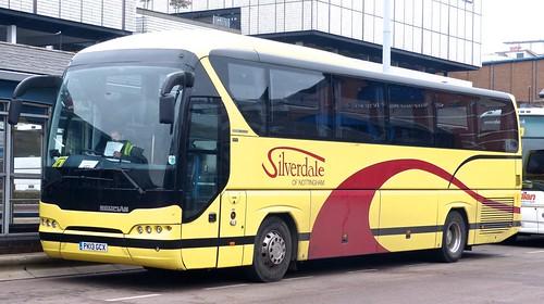 PK13 CGX 'Silverdale' Neoplan Tourliner on 'Dennis Basford's railsroadsrunways.blogspot.co.uk'