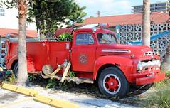 Ford Fire Truck at Sun Set Beach