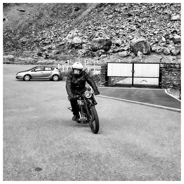 Sunbeam motorbike rider, Fujifilm X-Pro1, XF27mmF2.8