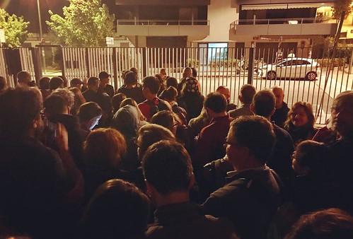 El poble defensant la #Democràcia #JoVoto #CatalanReferendum #HolaRepública #Gelida #Penedès