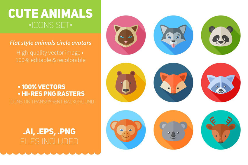 Create a Flat Animal Icons in Adobe Illustrator