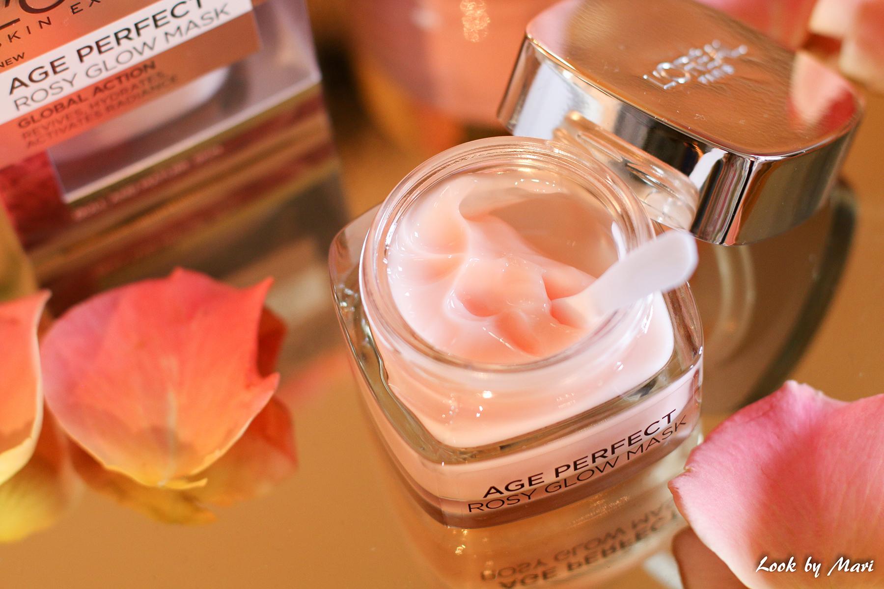 16 age perfect rosy glow mask kokemuksia +50 kirkastava ruusu naamio blogi