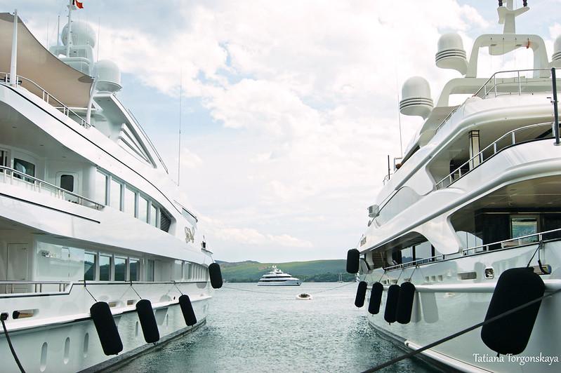 Яхты у первой пристани