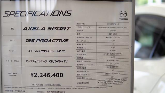 マツダ アクセラスポーツ 15Sプロアクティブ
