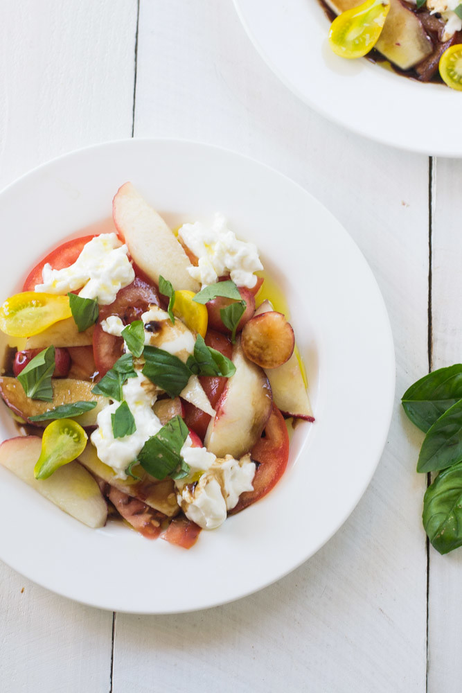 Summer Fruit Caprese Salad