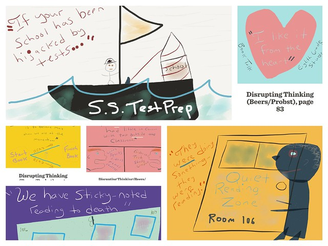 Disrupting Thinking Doodle Collage