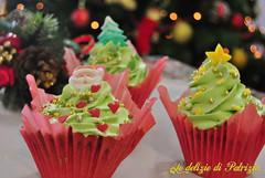 Cupcakes di Natale al pistacchio