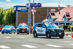 Everett Police Department 2015 Ford Police Interceptor Utility SUV & Unmarked Toyota Prius
