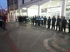 Policía municipal realiza su hora cívica cada lunes