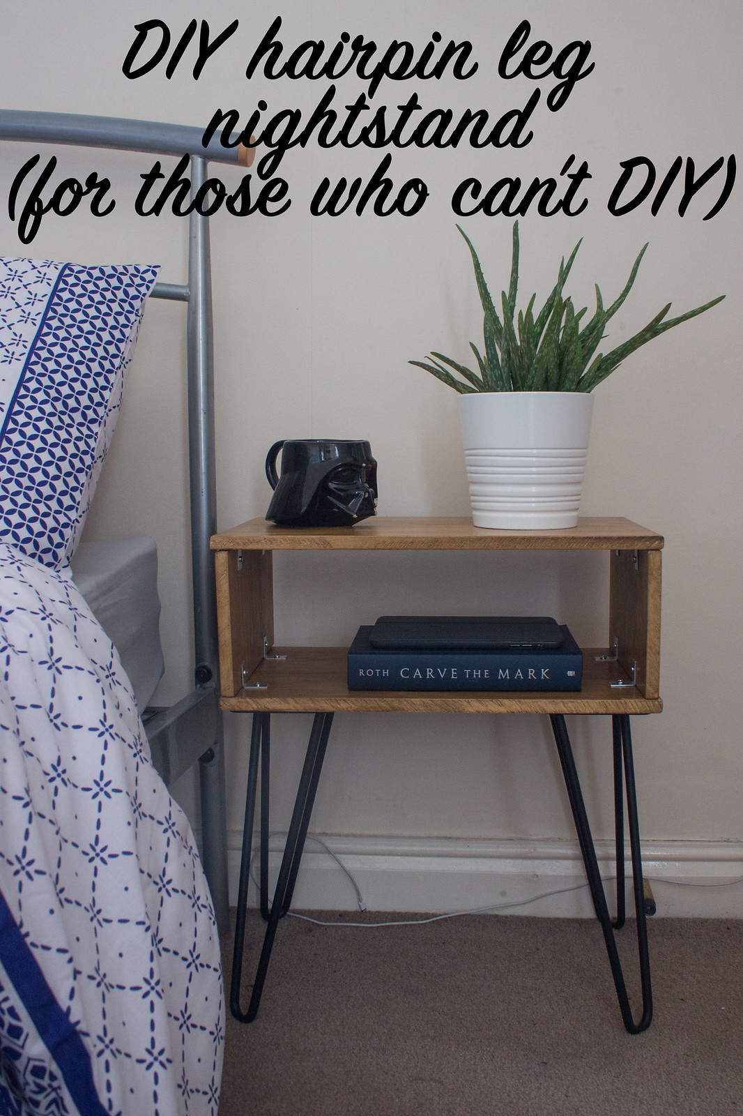 DIY hairpin leg nightstand tutorial