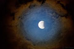 L'�clipse partielle de la lune le 07 ao�t 2017