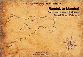 Map from Ramtek to Mumbai