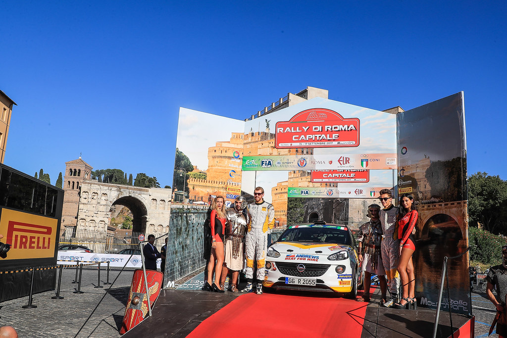 27 INGRAM Chris (GBR) ELLIOTT Edmondson (GBR) Opel Adam R2 start during the 2017 European Rally Championship ERC Rally di Roma Capitale,  from september 15 to 17 , at Fiuggi, Italia - Photo Jorge Cunha / DPPI