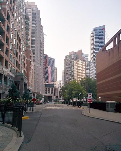 Not a public laneway #toronto #skyline #condos #tower #laneway #alley #downtown