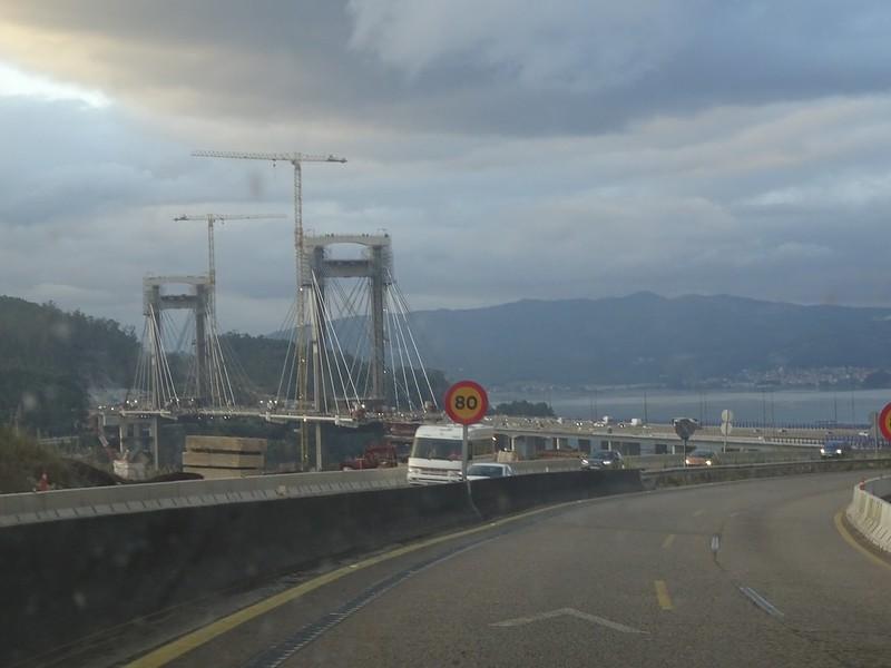 Llegando al puente de Rande