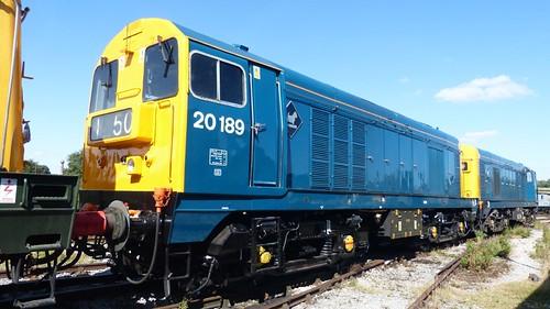 20 189 'British Rail' Class 20 loco /1 on Dennis Basford's railsroadsrunways.blogspot.co.uk