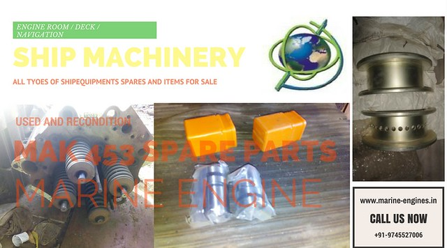 MAK 453, cylinder liner, piston, MAK marine engine spare parts supplier, MAK 453 AK, used, recondition, genuine, OEM, piston rings, liner, con rods, spare parts, gasket, fuel pump, valve