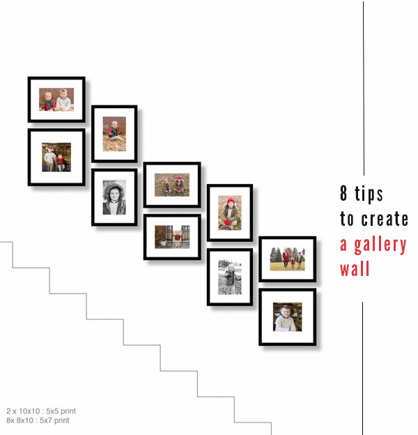 staircase wall design ideas - gallery wall