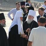 Предстоятель Русской Церкви ознакомился с ходом строительства Никольского Морского собора в Новороссийске