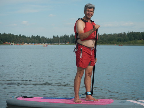 Elk Island Pierre on SUP