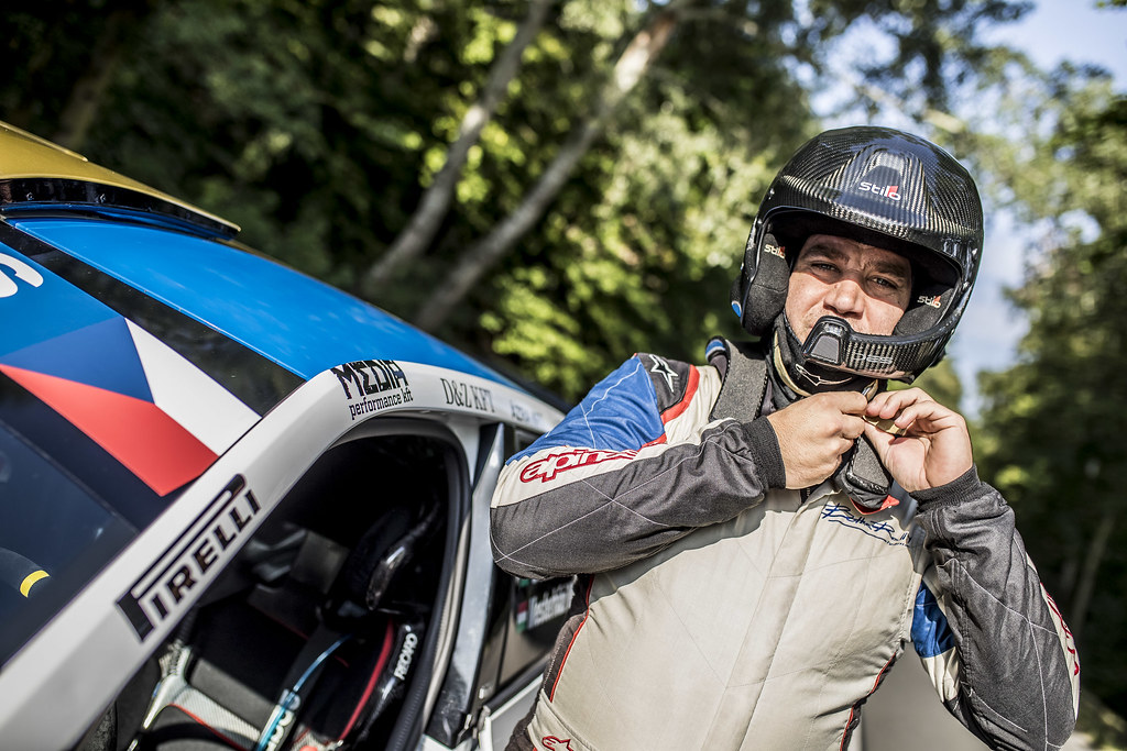 BOTKA David (HUN)  FERENCZ Ramon (HUN) Skoda Fabia R5 ambiance portrait during the 2017 European Rally Championship ERC Barum rally,  from August 25 to 27, at Zlin, Czech Republic - Photo Gregory Lenormand / DPPI