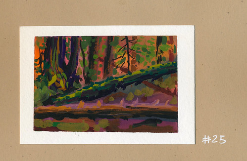 Sketchbook #106: Gouache - Forest