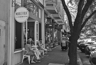 Noble Folk Ice Cream and Pies - Street view bw