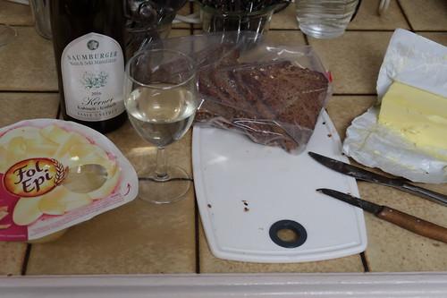 Käsebrote (als schnelles Abendessen in der Küche)