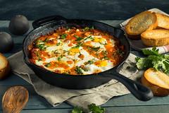 Homemade Saucy Shakshuka with Eggs