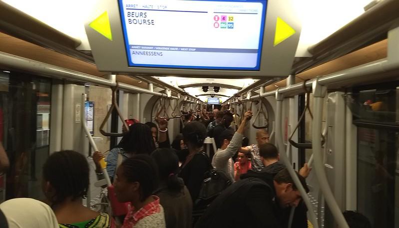 Pre-metro tram interior, Brussels
