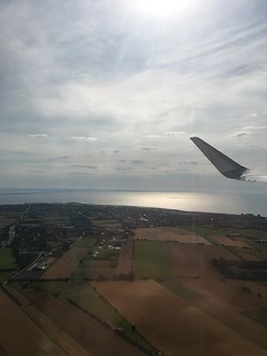 tuesday, view from the airplane over the öresund bridge, leaving for charles de gaulle, paris