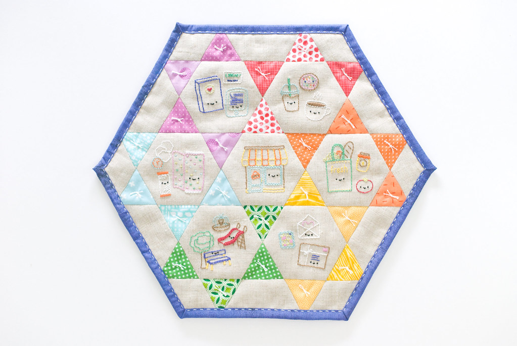 About The Town Mini Quilt