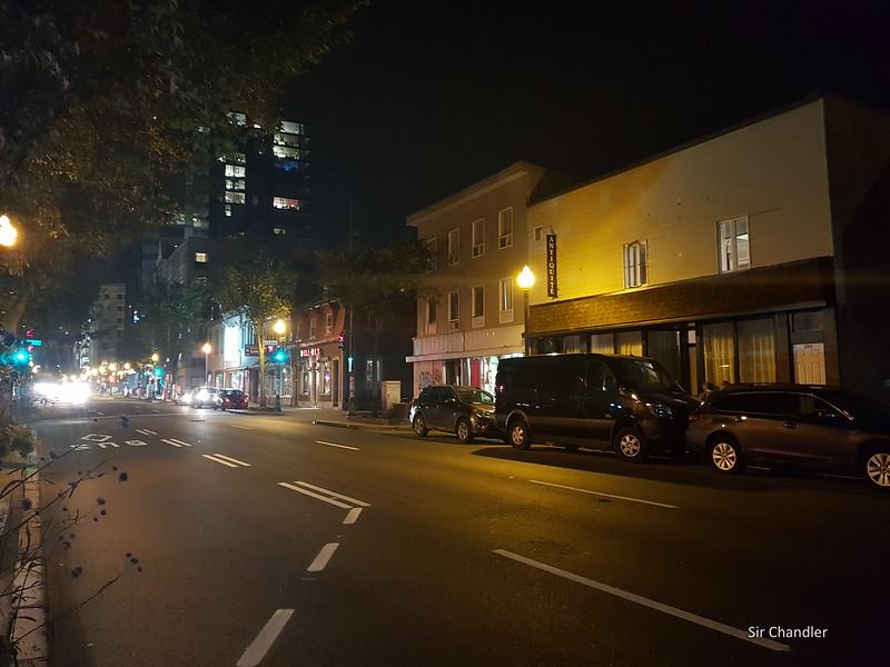 Quebec de noche con el S8+