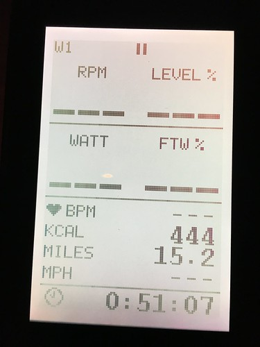 Spin bike stats from 9/6/17