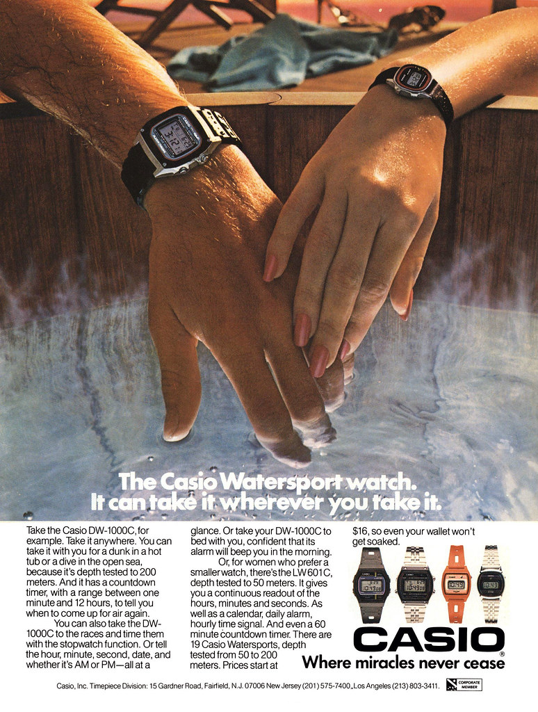 reklama Casio z lat 80.