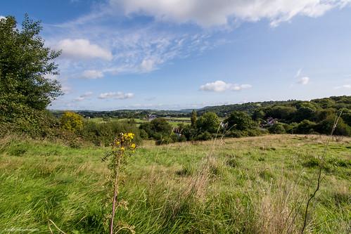 landscape view cloud usk valley newport wales hill caerleon