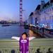 Audrey on Westminster Bridge at Sunset