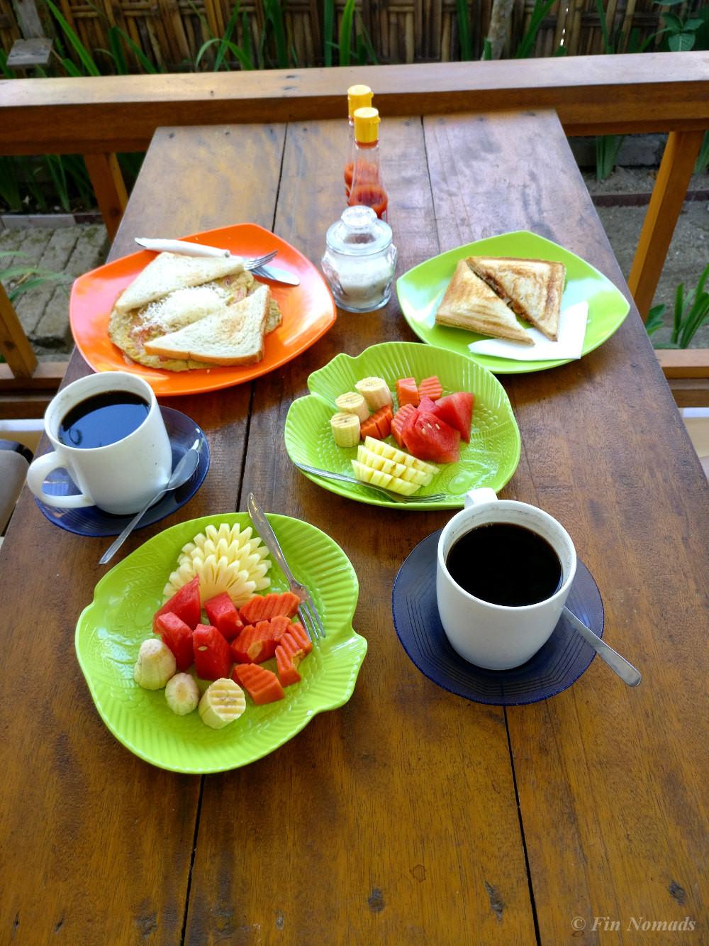 Gili Air breakfast