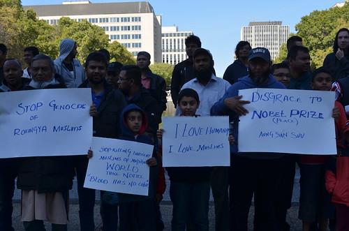 Edmonton Rallies for the Rohingya Muslims