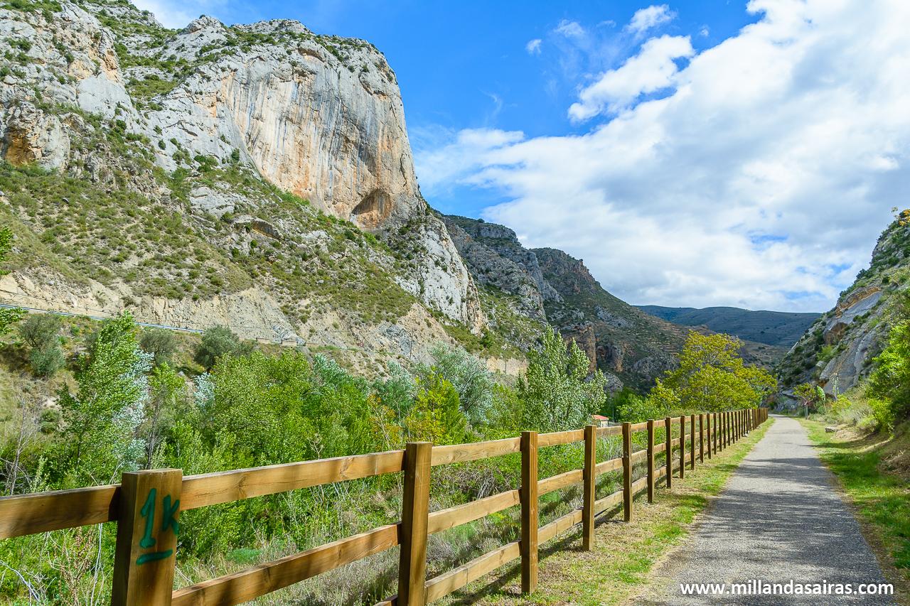 Vía Verde del Cidacos al paso por Arnedillo